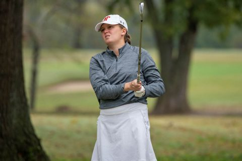 Austin Peay State University Women's Golf sophomore Taylor Dedmen leds the Govs with an opening 72 in Nashville. (APSU Sports Information)