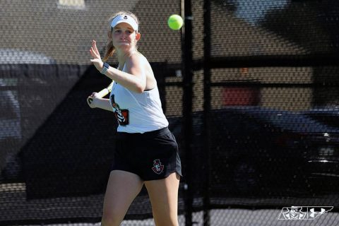 Austin Peay Women's Tennis players Fabienne Schmidt, Danielle Morris and Aleks Topalovic advance to ITA Ohio Valley Regional semifinals. (APSU Sports Information)