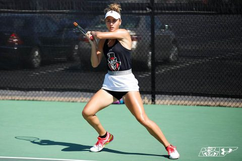 Austin Peay Women's Tennis sophomore Aleks Topalovic made it to the Flight B Singles Championship match but lost to Xavier's Kaitilin Ruethera. (APSU Sports Information)