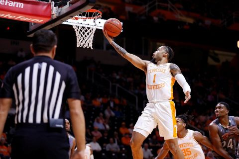 Tennessee Men's Basketball junior Lamonte Turner has 23 points Wednesday night in win over Eastern New Mexico. (UT Athletics)