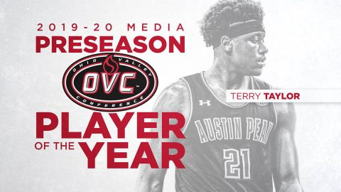 Austin Peay Men's Basketball junior Terry Taylor has been named OVC Preseason Player of the Year by league media. (APSU Sports Information)