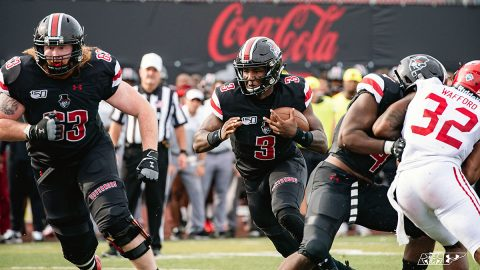 Austin Peay Football quarterback JaVaughn Craig was 15-for-21 passing for 220 yards, 30 yards rushing and three rushing touchdowns that included a recovered fumble in the end zone in Jacksonville State win. (APSU Sports Information)