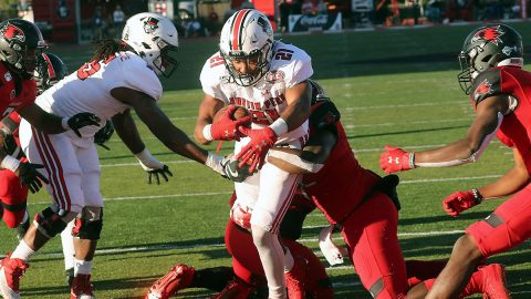 Austin Peay State University football running back Ahmaad Tanner rushed for 76 yards and two touchdowns Saturday in win over Southeast Missouri. (APSU Sports Information)