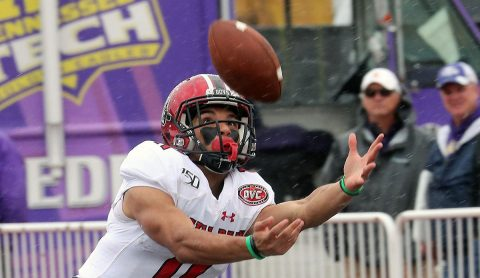 Austin Peay State University Football scores early and often in blowout of Tennessee Tech Saturday, 58-21. (Robert Smith, APSU Sports Information)