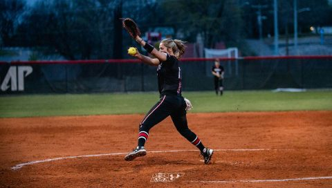Austin Peay Women's Softball pitches stifle Wasbash Valley Warriors in sweep Friday afternoon. (APSU Sports Information)