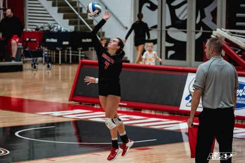Austin Peay Women's Volleyball senior Ginny Gerig Busse had 46 digs Friday night against Southeast Missouri. (APSU Sports Information)