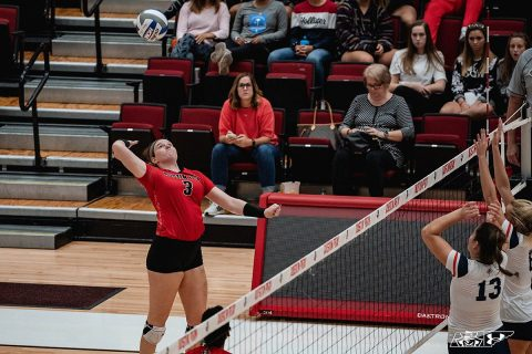 Austin Peay State University volleyball outside hitter Brooke Moore had 17 kills in loss at Morehead State Saturday. (APSU Sports Information)