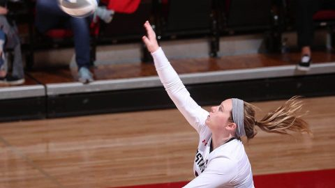 Austin Peay Volleyball sophomore Brooke Moore had 18 kills, 12 digs and an ace in win over Belmont at the Dunn Center, Saturday. (APSU Sports Information)