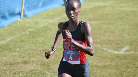 Austin Peay Women's Cross Country senior Emmaculate Kiplagate comes in fifth at Fast Cats Classic. (APSU Sports Information)
