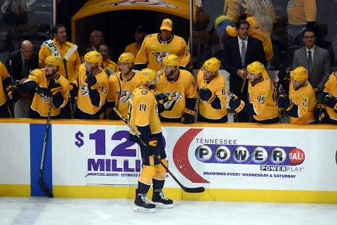 Nashville Predators get 3-2 overtime win against the Tampa Bay Lightning Saturday night. (Mike Strasinger)
