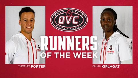 Austin Peay State University Cross Country's Emmaculate Kiplagat, Thomas Porter earn OVC Runner of the Week honors. (APSU Sports Information)