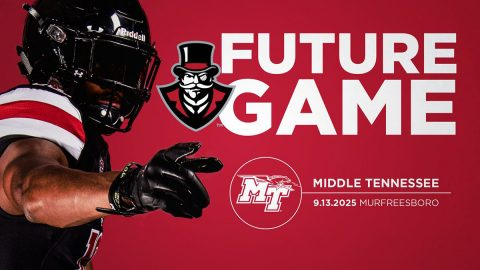 Austin Peay State University Governors Football to place Middle Tennessee Blue Raiders in 2025. (APSU Sports Information)