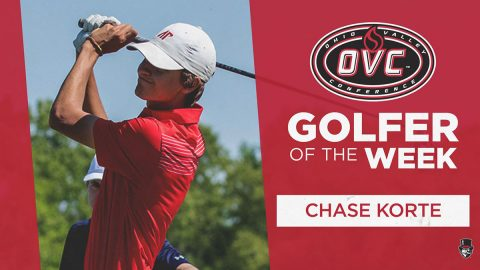 Austin Peay Men's Golf junior Chase Korte named OVC Golfer of the Week. (APSU Sports Information)