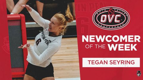 Austin Peay Women's Volleyball freshman Tegan Seyring was named OVC Newcomber of the Week. (APSU Sports Information)