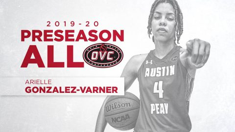 Austin Peay Women's basketball forward Arielle Gonzalez-Varner was selected for the All-OVC Women's Basketball team. (APSU Sports Information)