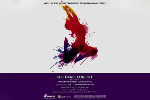 Austin Peay State University Department of Theatre and Dance presents Fall Dance Concert, October 31st - November 3rd.
