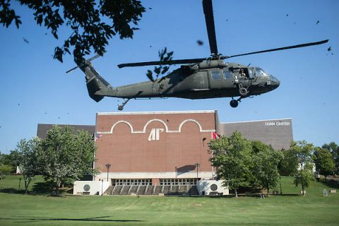 Four UH-60 Black Hawk helicopters will land at Austin Peay State University as part of a joint training exercise with the Tennessee National Guard and APSU Governors Guard ROTC. (APSU)