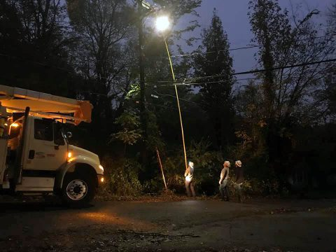 Crew have worked through the night restoring power to Clarksville residents.