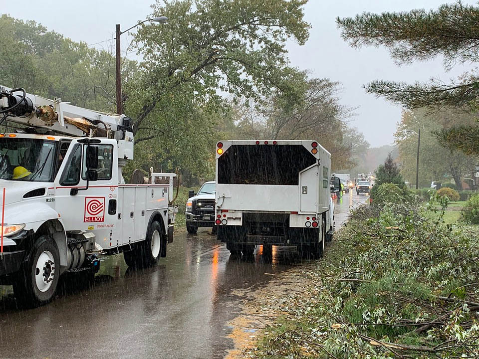 Crews continue to work, safely, to restore power to Clarksville residents.