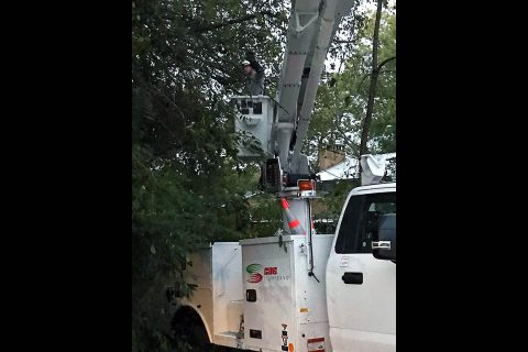Crews will work through the night restoring power.