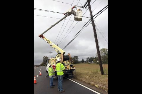 CDE Lightband crews continue to work on restoring power to those without in Clarksville.