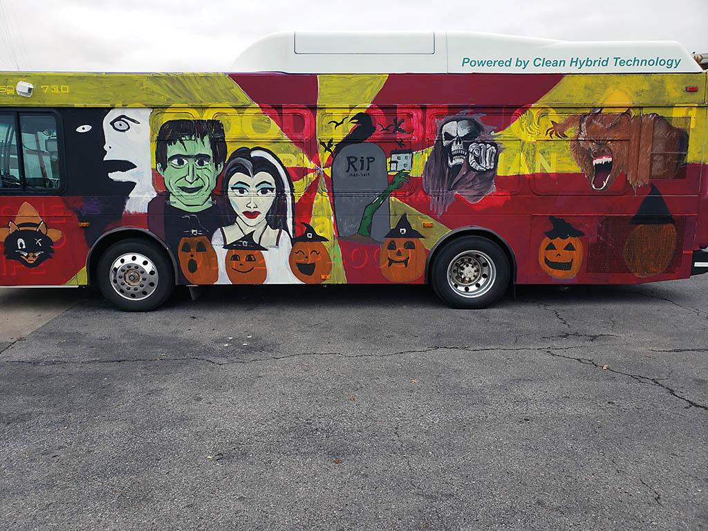 Clarksville Transit System's Spooky Bus