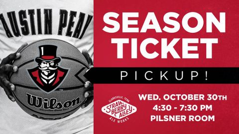 Austin Peay Athletics to hold Basketball Preseason Season Ticket Holder event at Strawberry Alley Ale Works on Wednesday, October 30th. (APSU Sports Information)
