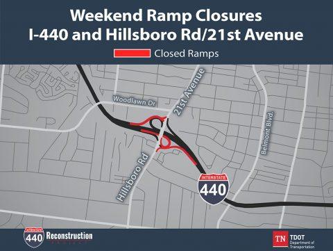 Interstate 440 Ramp Closures at Hillsboro Road
