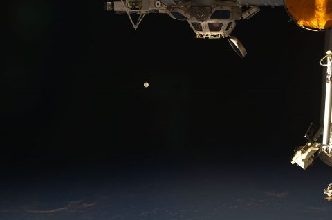 The moon as seen from the International Space Station. (NASA)
