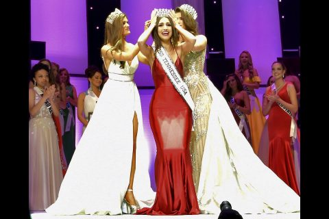Justice Enlow is crowned Miss Tennessee USA 2020 at Austin Peay State University in Clarksville Saturday, October 12th, 2019.