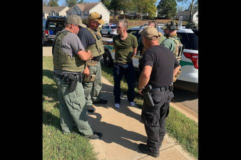 Local law enforcement agencies work together Sunday to capture wanted Attempted Homicide Suspect Thomas Reynolds.