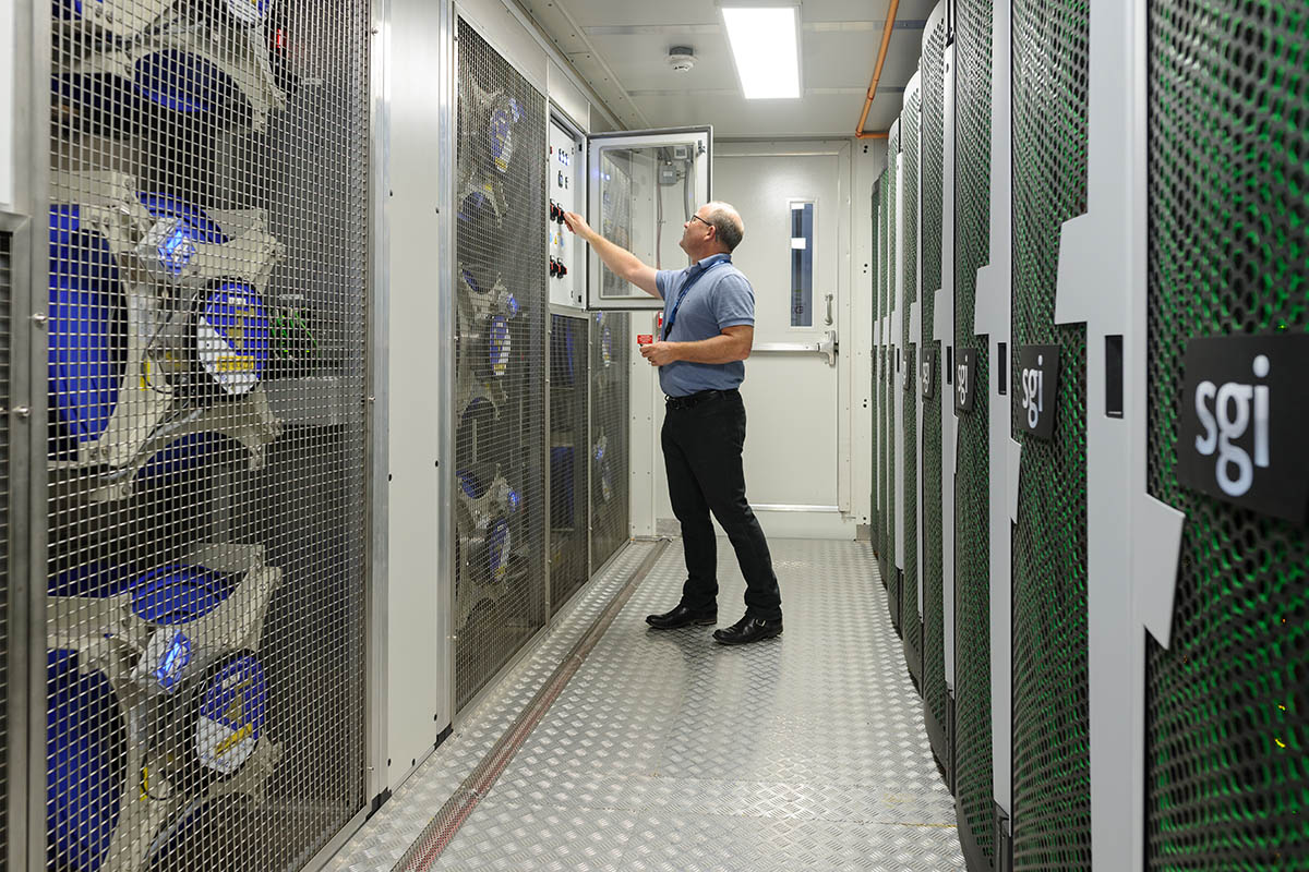 Electra, NASA's powerful modular supercomputer, was also used in this collaboration with Google. It is a petascale supercomputer that saves significant amounts of water and power annually. (NASA/Ames Research Center/Dominic Hart)