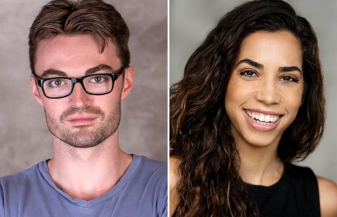 "Ian Alexander Erbe and Yarissa Tiara Millan star as Brad and Janet in Richard O'Brien's ""The Rocky Horror Show"" at the Roxy Regional Theatre, October 25th - November 2nd."