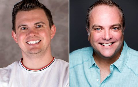 "Ryan Bowie and Brian Best star in ""Greater Tuna"" in the Roxy Regional Theatre's theotherspace, October 14th - October 22nd"""