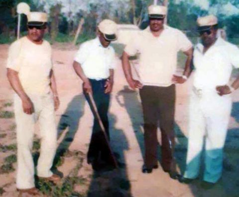 Members of Club 25, a group of veterans who bought land to develop a park in the Birchwood neighborhood some four decades ago, are shown at the park in this historical photo.