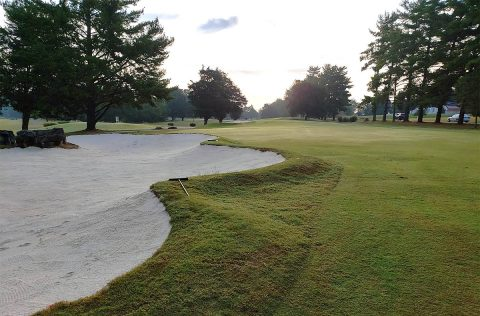 Swan Lake Golf Course improved bunker.