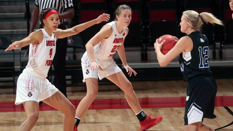 Austin Peay State University Women's Basketball cranks up the defense in win over Mississippi Valley State, Monday night. (APSU Sports Information)