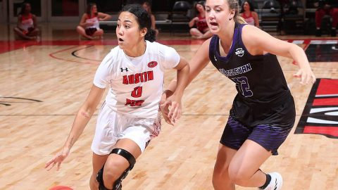 Austin Peay Women's Basketball drains 18 three points in 103-70 victory over Kentucky Wesleyan at the Dunn Center Tuesday. (APSU Sports Information)
