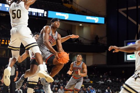 Austin Peay State University Men's Basketball loses ground down the stretch in 80-72 loss to Vanderbilt, Wednesday night. (APSU Sports Information)