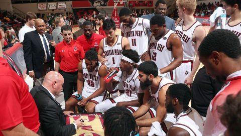 Austin Peay State University Men's Basketball rolls over Lees-McRae 106-67 at the Dunn Center Saturday night in final exhibition game of the season. (APSU Sports Information)