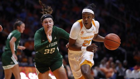 Tennessee Women's Basketball freshman Jordan Horston scored 14 points in win over Stetson Tuesday night. (UT Athletics)
