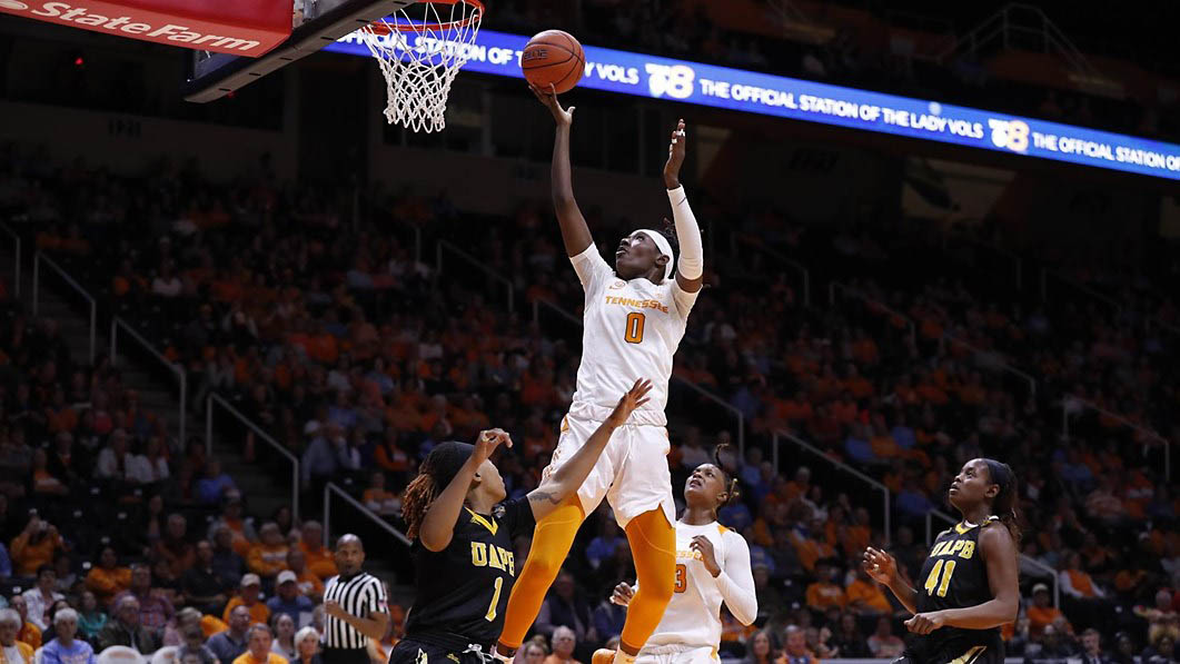 Tennessee Women's Basketball junior Rennia Davis scored 17 points in win over Arkansas-Pine Bluff Tuesday night. (UT Athletics)