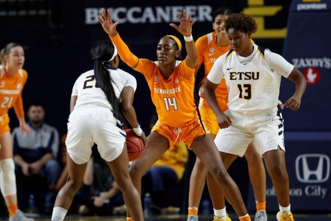 UT Lady Vols Basketball slides past East Tennessee 72-68 Tuesday night. (UT Athletics)