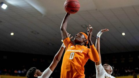 Tennessee Women's Basketball junior Rennia Davis connected for 33 points in win over #16/14 Notre Dame Monday night. (UT Athletics)