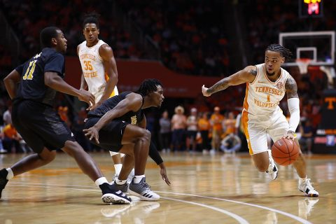 Tennessee Men's Basketball team's Jordan Bowden and Lamonte Turner passed the 1000-career point milestone in the Wednesday night win over Alabama State. (UT Athletics)