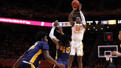 Tennessee Men's Basketball senior Jordan Bowden knocks down 26 points in victory over Murray State, Tuesday night. (UT Athletics)