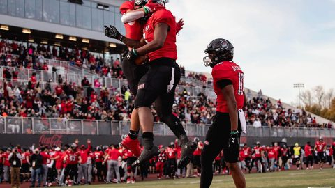 Austin Peay State University Football takes down UT Martin 38-24 to take command of the #1 spot in the OVC. (APSU Sports Information)
