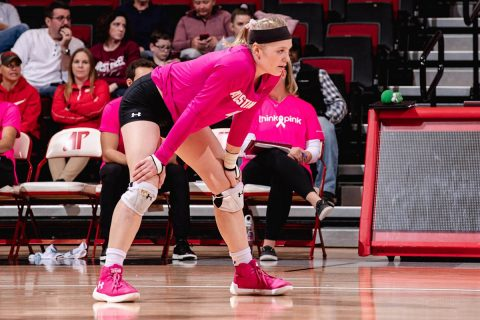 Austin Peay State University Women's Volleyball junior Chloe Stitt comes off the bench to propel Govs past Eastern Illinois. Stitt had 14 kills in the match. (APSU Sports Information)