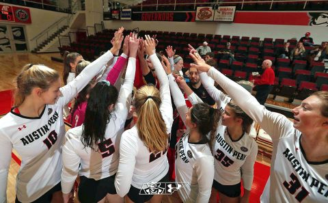 Austin Peay State University Volleyball gets three set sweep over Eastern Kentucky at the Dunn Center. Attention now turns to OVC Championships. (APSU Sports Information)