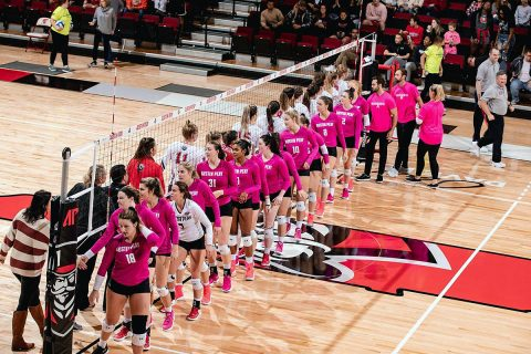 Austin Peay State University Women's Volleyball season comes to an end with four set loss to Morehead State in the OVC Tournament, Thursday. (APSU Sports Information)